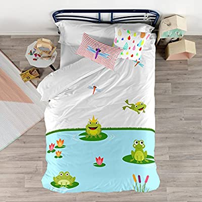 Mr Fox Happy Frogs Funda Nordica 180 X 220 Bettwäsche 105 Amazon