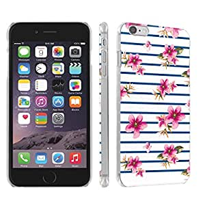Skinguardz Iphone 6 (4.7) (Black Pink Stripe H) Ultra Slim Light Weight Plastic Cover Case