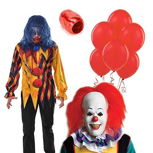 BirthdayExpress IT Movie Pennywise Killer Clown Adult Costume Kit - Standard ()