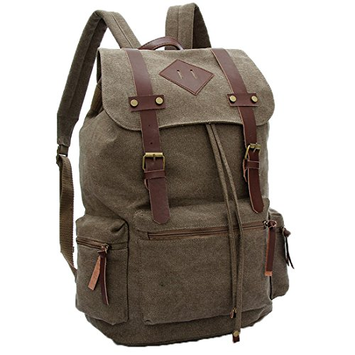 Cgecko C-1082 Leisure Retro Cotton Canvas Bagpack Backpack College School Bag For Boys