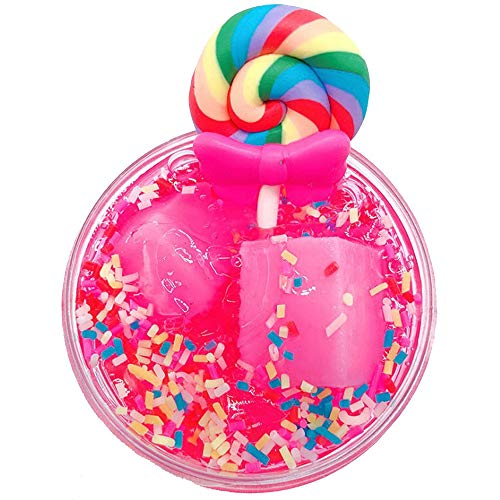 Sagton Clay Toy Lollipop Colorful Mud Mixing Cloud Slime Putty Scented Stress Toy for Adult Kids (C)