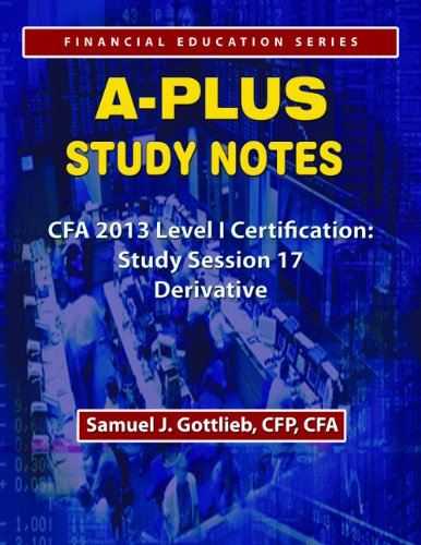 APSN CFA 2013 Level 1 Study Session Derivative Investments