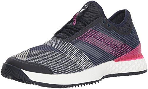 adidas Men's Adizero Ubersonic 3 Clay Tennis Shoe, Legend Ink/White/Shock Pink, 11.5 M US