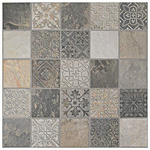 SomerTile FGFDECCA Caldazer Décor Ardesano Porcelain Floor