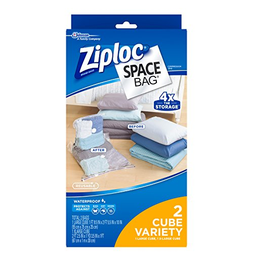 Bag Combo Pack - Space Bag , 2 Piece Cube Combo Vac Bags (1 Large and 1 Extra Large)