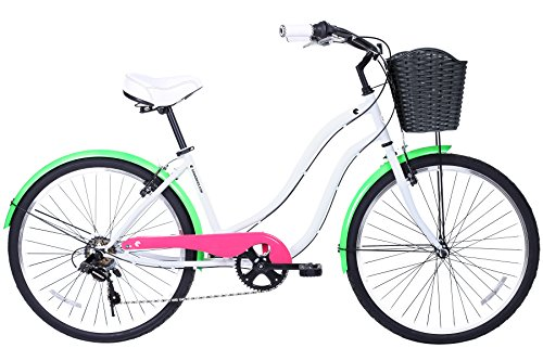 Gama Bikes Boardwalk 26-Inch Fluor Step Thru 6 Speed Shimano