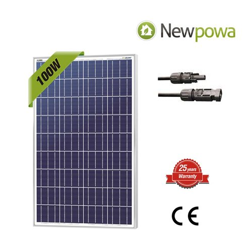 Newpowa 100 Watts 12 Volts Polycrystalline Solar Panel 100W 12V High Efficiency Module Rv Marine Boat Off Grid by Newpowa