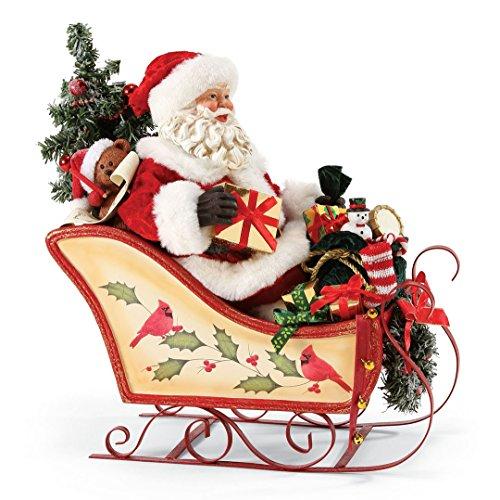 "Department 56 Possible Dreams Santa Claus ""Bear-y Full Sleigh"" Clothtique Christmas Figurine Possible Dreams Sleigh"