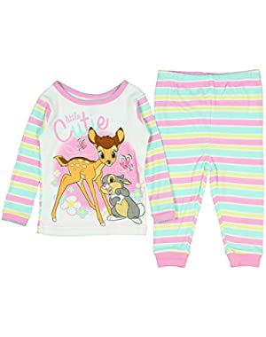Baby Girls' Bambi Little Cuttie 2 PC Pajama Set
