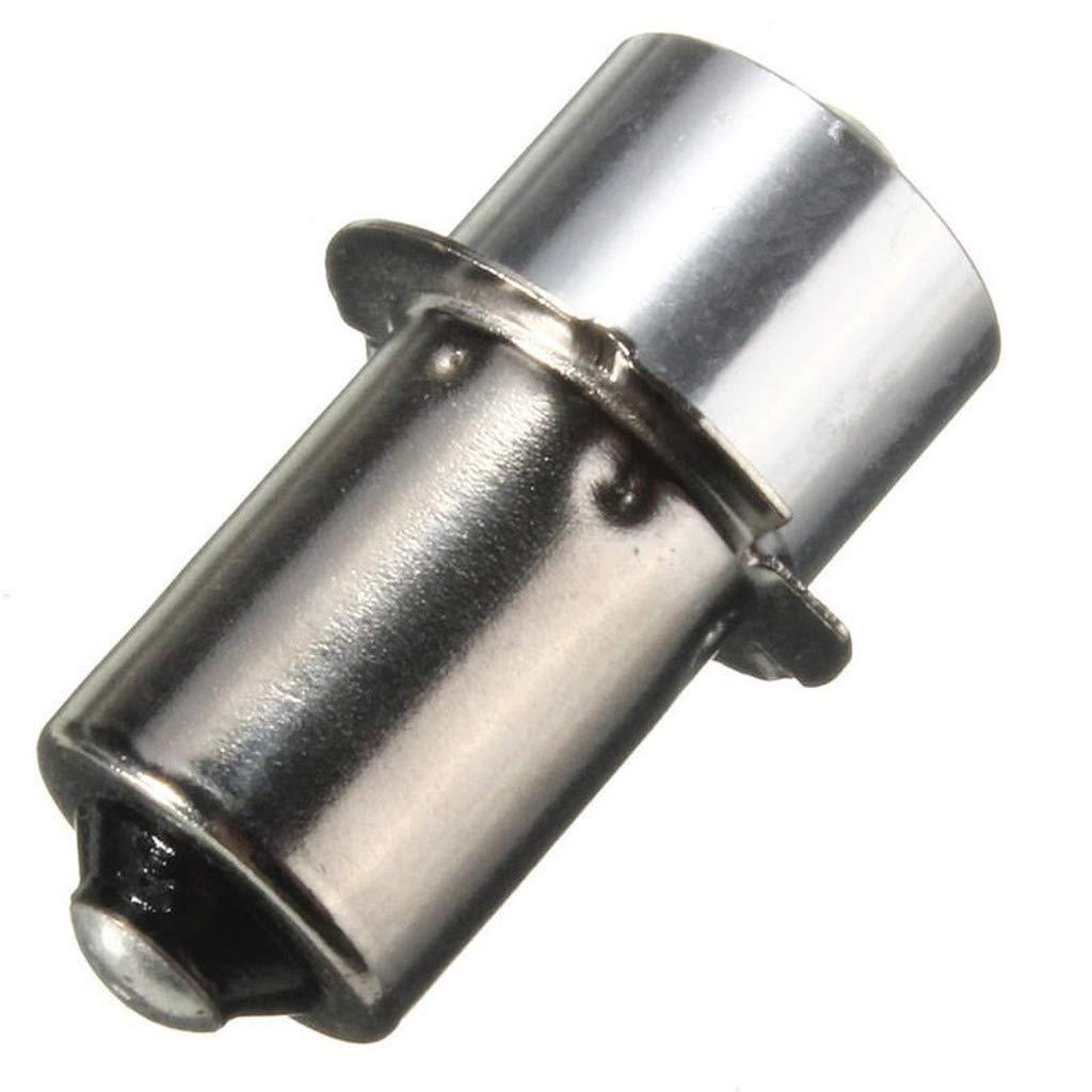 P13.5S PR2 LED Flashlight Bulb 1W Interior Bike Torch Spot Replacement Lamp Bulb DC3-18V Pure white,3-18V