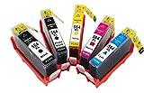 YATUNINK 5 Pack 564XL ink cartridge Set Pack564XL replacement PhotoSmart Plus B209c B210 Printer