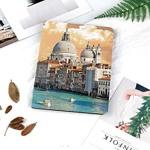 IPad 9.7 inch 2017/2018 Case Ultra Slim Lightweight Smart Stand Cover with Magnetic Auto Wake & Sleep Function/Soft TPU Back Cover for iPad 5th/6th Generation,Cityscape,Grand Canal in Venice Italy His