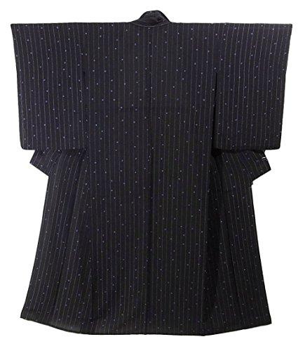 荒れ地瞑想的放射能リサイクル 着物 薄物 夏物 正絹 絞り染め 疋田文様 裄61cm 身丈151cm