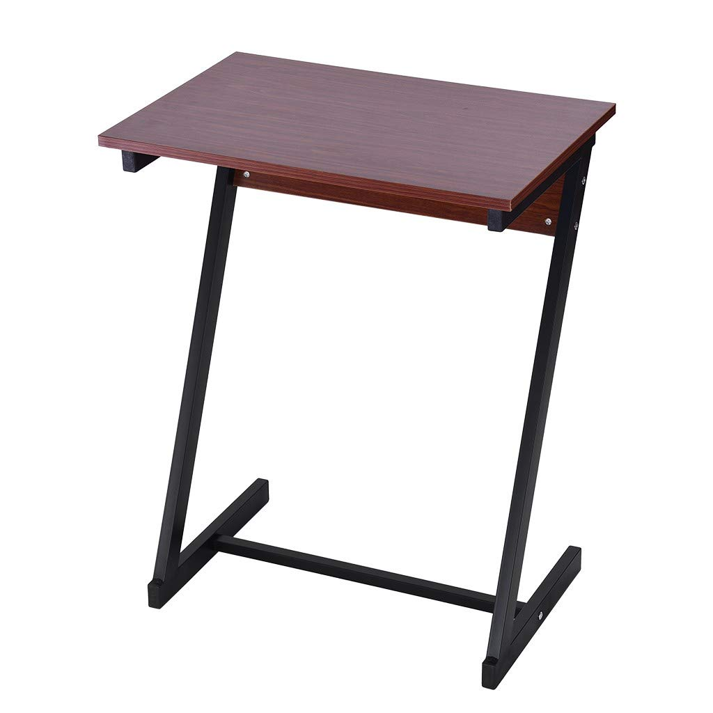 Suesshop Tables, Modern Desk Z Type Laptop Desk Sofa End Table TV Stand Side Table Snack Tray for Home Office Study Desk Desks for Small Spaces