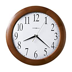 Howard Miller Large Corporate Wall Clock, 12-3/4, Cherry (625214)