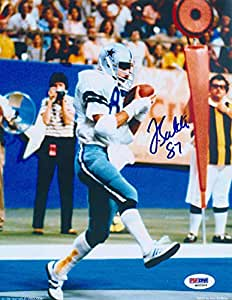 Jay saldi signed autographed dallas cowboys catch 8x10 for Saldi thun amazon