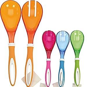 na-und 40258 Salatbesteck acryl modern 30cm color , Color:orange