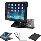 Keyboard case Compatible iPad Mini 4 7.9 inch, Lenrich Ultra Slim 360 Degree Rotatable Swivel Wireless Keyboard Cover Hard Shell Stand Black