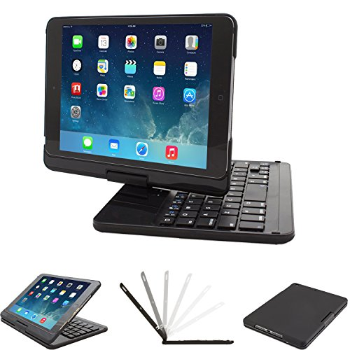 Keyboard case Compatible iPad Mini 4 7.9 inch, Lenrich Ultra Slim 360 Degree Rotatable Swivel Wireless Keyboard Cover Hard Shell Stand Black by LENRICH