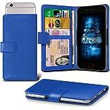 (Blue) BLU Win HD LTE Adjustable Spring Wallet ID Card Holder Case Cover ONX3