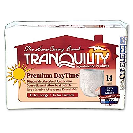 Amazon.com: Tranquility Premium DayTime Pull-On Diapers Size Extra Large (XL) Pk/14 by Tranquility: Health & Personal Care