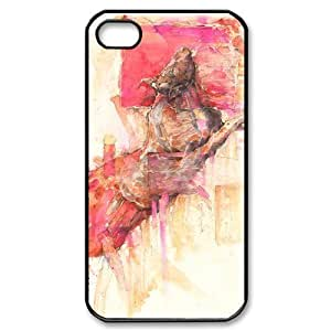 Custom Cover Case with Hard Shell Protection for Iphone 4,4S case with Bulls lxa#392119