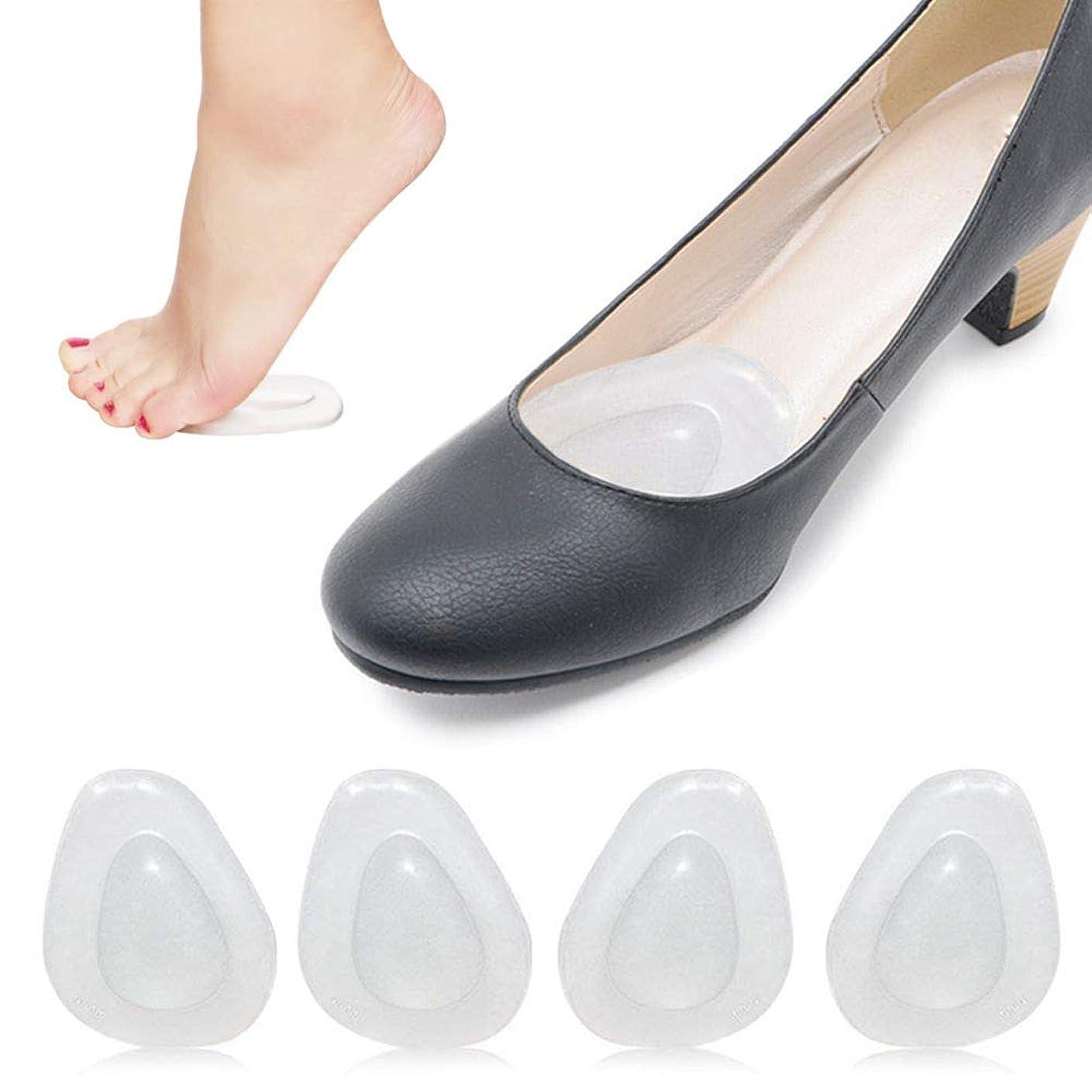 ケーキ大気数学者ACHOR 足裏保護パッド つま先保護カバー インソール前ズレ防止 ジェルパッド 医療用シリコンクッション つま先の痛み緩和 足裏マッサージ 靴ずれ防止パッド 柔らかい 3足分 6枚入り