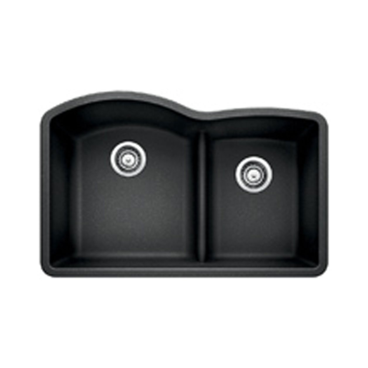 Blanco 441590 Low Divide Under Mount Double Bowl Kitchen Sink Large Anthracite