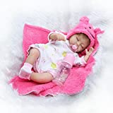 Sleeping Soft Silicone Reborn Baby Dolls Girl Look Real Pink Outfit 16 inches