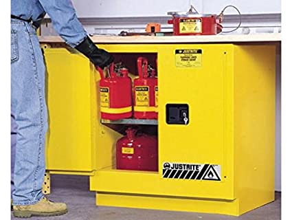 Sure Grip EX Undercounter Flammable Safety Cabinet, Cap. 22 Gallons, 1 Shelf