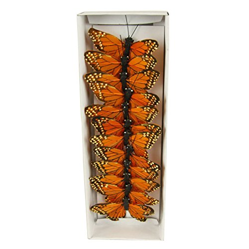 Shinoda Design Center 0165500200 12 Piece Monarch Butterfly Decor, 3