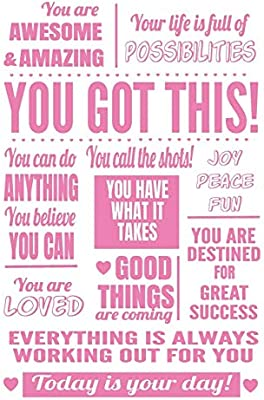 You Got This: 6x9 Lined Journal : Pink Inspirational Quote ...