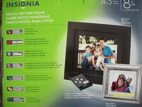 Insignia NS-DPF8WW-09 - Digital photo frame - flash 128 MB - 8