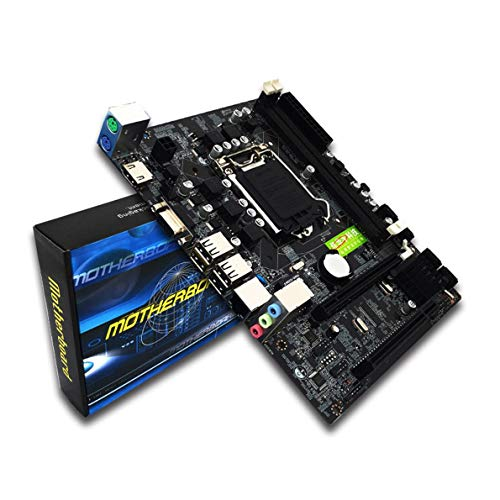 Desktop Computer Motherboard Intel H55 Socket Motherboard HDMI LGA 1156 Pin Dual Channel DDR3 Mainboard - Black