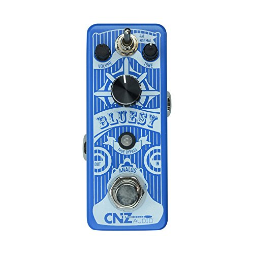 CNZ Audio Bluesy - Overdrive Guitar Effects Pedal, True Bypass