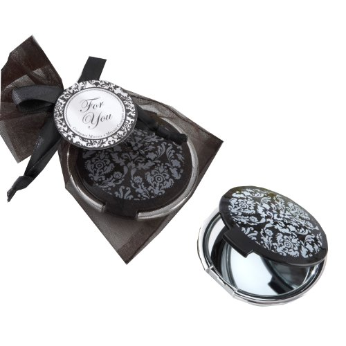 Reflections Elegant Black-and-White Mirror Compact - Compact Mirror