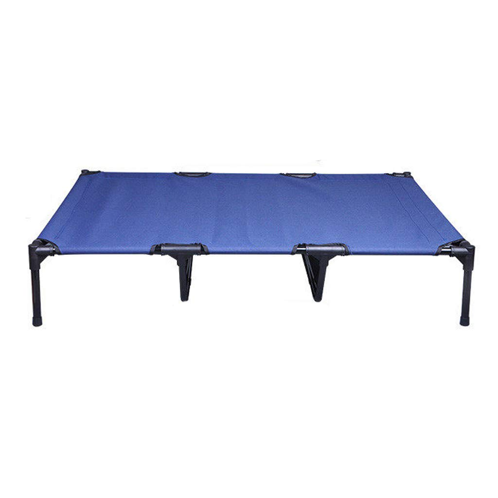 bluee-1 Xl bluee-1 Xl HQSB Pet Bed Elevated Dog Bed with Steel Frame Portable Waterproof Breathable Pet Cot No-Slip Feet Indoor or Outdoor Use (color   bluee-1, Size   Xl)