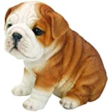 All Line Sitting Bulldog Puppy Figurine