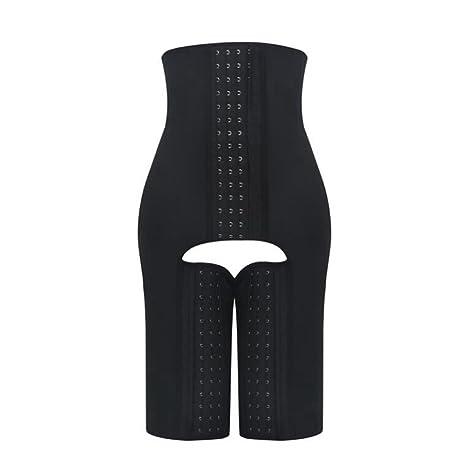 bc474fa34d77b MZjJPN Women Frim Latex High Waist Shapewear Steel Boned Butt Lift Body  Shaper Pants Zipper Tummy
