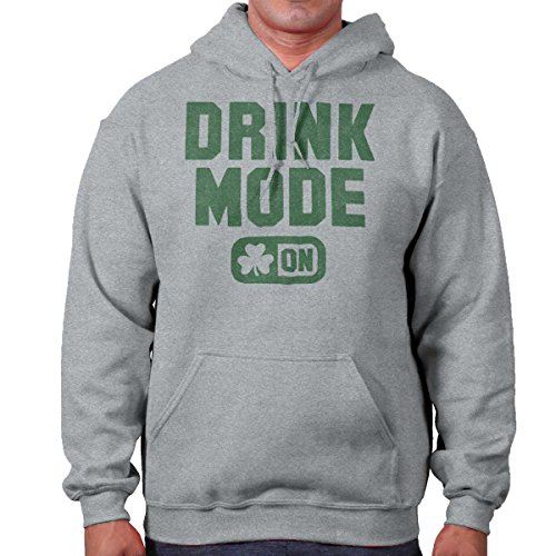 Drink Mode Funny Shirt ST Patricks Day Gift Idea Patty Beer Hoodie Sweatshirt (Alcohol Sweatshirt)