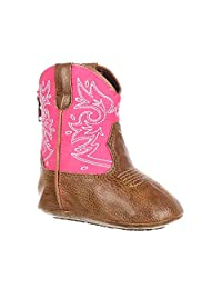 Durango Western Boots Girls Baby Embroidery Soft Sole Pink DBT0150