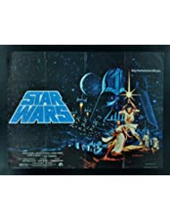 STAR WARS * CINEMASTERPIECES ORIGINAL VINTAGE BRITISH QUAD MOVIE POSTER 1977 HILDEBRANDT