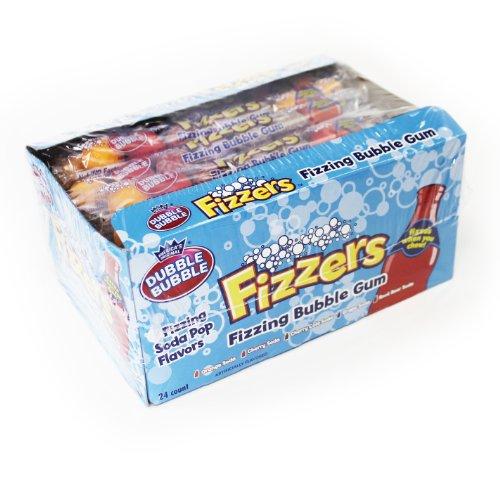 Dubble Bubble Fizzers Gumballs 1.7 OZ (Pack of 24) - Root Beer Gumballs