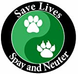 E & S Pets Car Magnet, Save Lives, Spay and Neuter