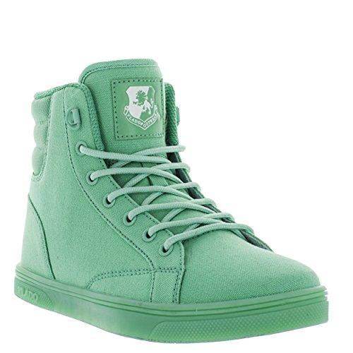 VLADO Footwear Women's Athena Canvas/Nylon High Top Mint Sneakers 5M