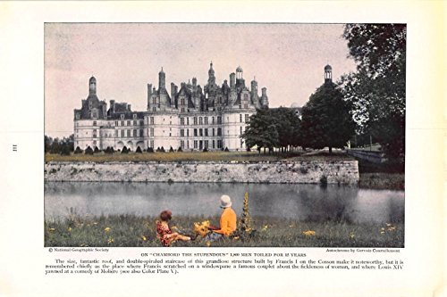 Print Ad 1930 On Chambord The Stupendous 1800 Men Toiled For 15 Years