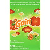 Gain Fabric Softener Dryer Sheets, Tropical Sunrise Scent, 120 Count