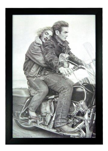 - Speedbound by Paul Gassenheimer, Marilyn Monroe James Dean Riding a Motorcycle 24