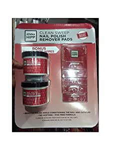 Amazon Com Jenna Hipp Nail Polish Remover Pads 55 Round Pads Each 3 68 Sq In 2 Jars 5