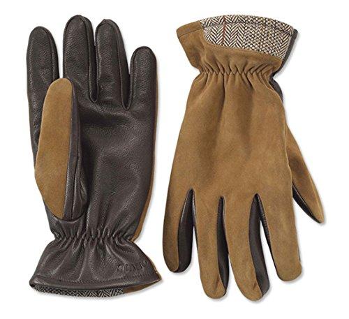 - Orvis Men's Tweed Trimmed Suede Glove, Large Tan